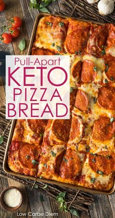 A special keto dough makes this luscious pizza bread extra indulgent. Slice or pull-apart. The post Pizza craving? A special keto dough makes this luscious pizza bread extra indulg appeared first on Recipes. Ketogenic Recipes, Diet Recipes, Cooking Recipes, Easy Recipes, Ketogenic Cookbook, Cookbook Recipes, Keto Recipes Dinner Easy, Bread Recipes, Healthy Pizza Recipes