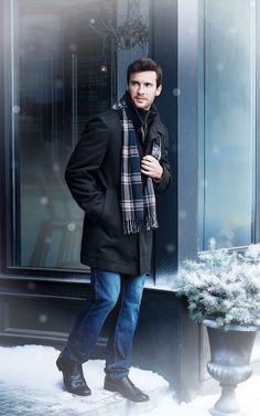 Jeno Neuman® Men's Wool-Blend Coat With Attached Bib My Christmas Wish List, Canada Shopping, Life Changing, Online Furniture, Wool Blend, Wonderland, Wedding Planning, Bomber Jacket, Winter Jackets