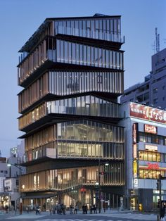 Asakusa Culture Tourist Information Centre by Kengo Kuma & Associates  Layered Slats Form Facade