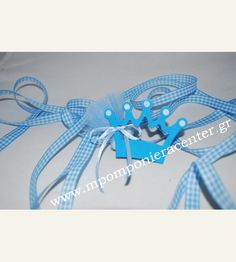 Κέρασμα γέννας πουγκάκι με κορώνα σιέλ Crafts, Manualidades, Handmade Crafts, Craft, Arts And Crafts, Artesanato, Handicraft