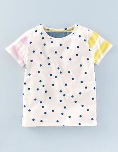 Stripy Hotchpotch T-shirt 30007 Graphic T-Shirts at Boden