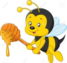 Resultado de imagen para dibujos de abejas con miel