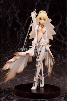 (29.51$)  Watch here - http://ai1vi.worlditems.win/all/product.php?id=32724014005 - Anime Fate Stay Night Fate/Extra CCC Saber PVC Action Figure Collectible Toy 22CM FNFG024