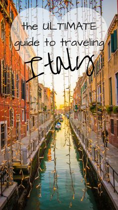 The ultimate travel guide to your Italy vacation. Including things to do, what to see, where to eat and find good food. Info on Naples, Venice, Florence, Sicily, Rome, Tuscany, Amalfi Coast, Cinque Terre, Verona, Positano, and all those honeymoon destinations!