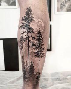 Mountain Sleeve Tattoo, Forest Tattoo Sleeve, Forest Forearm Tattoo, Tattoo Forearm, Mens Forearm Tattoos Tree, Tree Tattoos For Men, Quarter Sleeve Tattoos, Arm Sleeve Tattoos, Tattoo Sleeve Designs