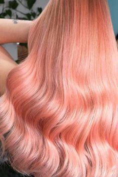 From dark brown hair to living coral, we've rounded up some of the best hair colors for spring and are giving you a detailed breakdown of the best ways to care for them. Coral Hair, Pastel Pink Hair, Peach Hair, Rose Gold Hair, Green Hair, Which Hair Colour, Vivid Hair Color, Gorgeous Hair Color, Cool Hair Color