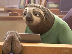 Animated gif discovered by Dean's Jessica. Find images and videos about gif, disney and zootopia on We Heart It - the app to get lost in what you love. Disney Pixar, Walt Disney, Disney And Dreamworks, Disney Love, Disney Magic, Zootopia 2016, Zootopia Sloth, Images Disney, Animiertes Gif