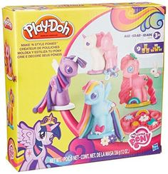 Play-Doh My Little Pony Make 'N Style Ponies Playset Make your own Ponyville world at home! With a rainbow of 9 Play-Doh colors, you can create all kinds of My Little Pony friends including Earth ponies,. Play Doh Colors, Hasbro Play Doh, Pony Style, Princess Twilight Sparkle, My Little Pony Friendship, Rainbow Dash, Decoration, Best Gifts, Entertaining