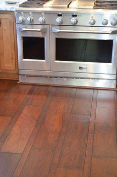 Craftsman kitchen, walnut floors, GE Monogram appliances