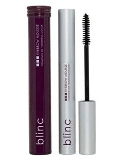 Blinc Eyebrow Mousse, .14 oz - Color that lasts all day unlike other eyebrow products that disappear half way through your busy day. Formulated with peptide to moisturize and provide anti-aging treatment to brow area. Natural-looking and water-resistant color to brows.
