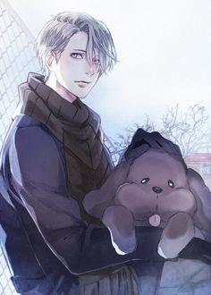 Gorgeous Viktor with Maccachin - Yuri on ICE