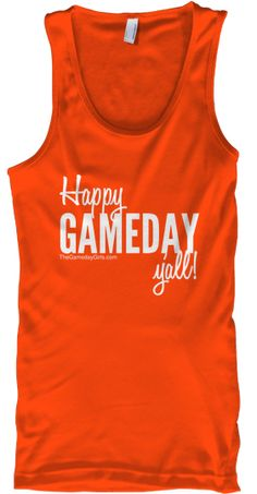 """Limited Run """"Gameday"""" Tank by The Gameday Girls. $18, Available for Pre-Order until Nov. 21. Order today, you'll only be charged if the minimum order is reached."""