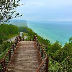 Name that Pure Michigan spot! This scenic lookout can be found in the Northwest region of Michigan's Lower Peninsula off the coast of Lake Michigan. Credit: @jmac248 #PureMichigan #LakeMichigan UPDATE: Arcadia is correct!