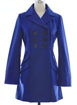 Navy Wool Pea Coat by Tulle Clothing at PLASTICLAND- Ermahgerd.