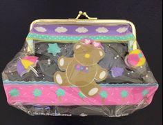 *Rare* Sanrio Just For Fun Bear Vintage Coin Snap Purse 1985 Trinket Bag