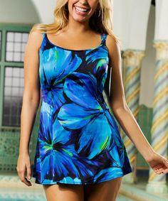 Love this Blue Darling Princess Seam Swimdress - Women & Plus on #zulily! #zulilyfinds