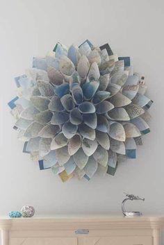 diy paper cone wreath