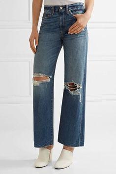 Simon Miller - Basin Distressed Wide-leg Jeans - Mid denim - 32