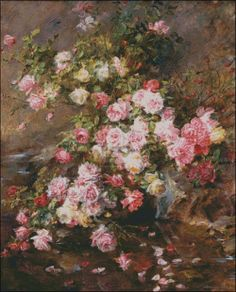 """Madeleine Jeanne Lemaire """"Roses Bouquet"""""""