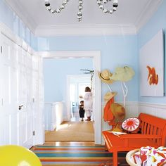 Hallway | Colourful beach house