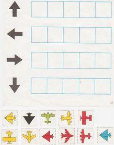 Na logopedii jsme dostali pár úkolů k procvičování. Určování směru nahoru, dolů, vpravo, vlevo. Letadel je málo, je potřeba je vytisknout z... Toddler Learning Activities, Teaching Kids, Kids Learning, Coding For Kids, Math For Kids, Montessori Activities, Kindergarten Activities, Transportation Theme, Free Preschool