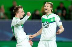Maximilian Arnold drückte eine Hereingabe von Bruno Henrique aus wenigen Metern zum 2:0 für Wolfsburg gegen Real Madrid..