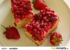 Hrnkový ovocný koláč s tvarohem recept - TopRecepty.cz