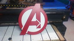 Avengers logo made on my CNC router.