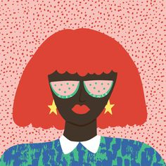 Miami based studio specializing in colorful patterns, illustration, stationery and typography. Hair Illustration, Portrait Illustration, Pattern Illustration, Illustration Fashion, Art Illustrations, Fashion Illustrations, Gouache, Art Inspo, Girl Power