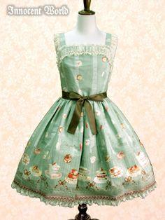 Innocent World パリのパティスリージャストウエストジャンパースカート