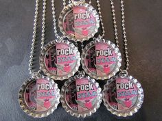 A personal favorite from my Etsy shop https://www.etsy.com/listing/172141268/rock-star-bottle-cap-party-favors-6-add