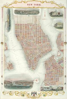Illustrated Maps of New York Through the Ages