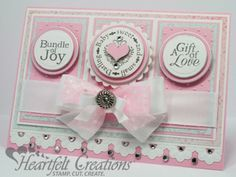This cute baby card would also make a beautiful wedding card. Heartfelt Creations | Sweet Baby Girl