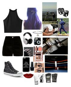 """Boxing with Harry"" by one-violet-summer ❤ liked on Polyvore featuring Chicnova Fashion, River Island, Converse, Beats by Dr. Dre, ASOS, Polaroid, Charlotte Tilbury, Casetify, OPI and Anastasia Beverly Hills"
