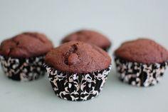 Chocolate Chocolate Muffins - from Small Batch Baking for Chocolate Lovers - makes 4 muffins