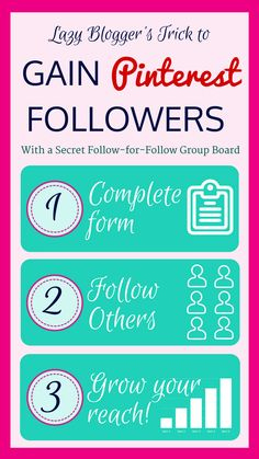 Calling all new bloggers! Join our Pinterest Follow-for-Follow group board to kick-start you Pinterest followers and reach more active pinners in your niche. #bloggingtips #SocialMedia