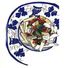 Food by Sally Mao, via Behance