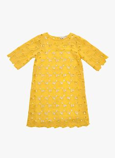 Stella McCartney Kids Ettie Girls eyelet Heart Dress