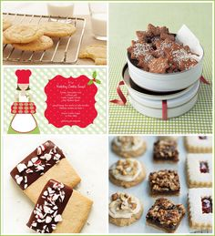 Cookie Exchange Recipes and Ideas... wishing I could do this .. this year would be fun.