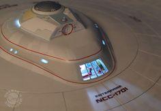 Close-up of the VIP lounge INSIDE the Star Trek Enterprise Refit Artisan Replica - so many astounding details in our Artisan models!