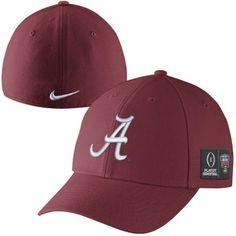 separation shoes 1eb3c b8048 Mens Alabama Crimson Tide Nike Crimson 2015 College Football Playoff Sugar  Bowl Bound Swoosh Flex Hat