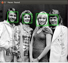 Python face detection example 1: Abba