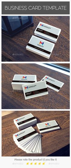 Credit Card Style Business Card   Business cards, Business card psd ...