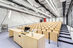 This project addresses progressive reconstruction of the interiors 4 lecture rooms for CTU in Prague. The user´s requirement was to create a modern and techn...