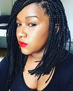 Long Bob Box Braids Lob Braids Hairstyles Pictures Braids For Trendy Braided Hairstyles 2018 9 Gogocurl Zurygogocurl 23 Trendy Bob Braids For African Am Box Braids Hairstyles, Braids Hairstyles Pictures, Chic Hairstyles, Hair Pictures, Hairstyles 2018, Short Bob Braids, Box Braids Bob, Long Braids, Pixie Braids
