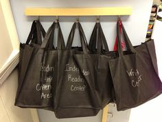 literacy centers in bags