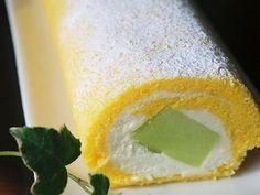 Melon cake roll recipe 卵たっぷりのしっとり生地でメロンロールケーキ