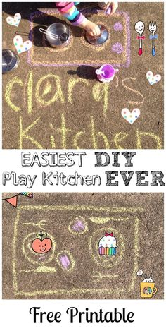Easiest. DIY Play Kitchen. EVER!!!!