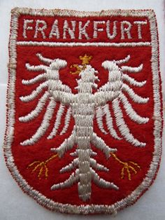 1950s Frankfurt Germany German Tourist Patch