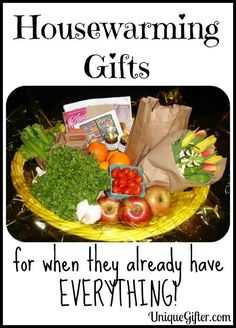 What to Bring Someone as a Housewarming Gift When They Already Have Everything - Unique Gifter Gift basket Ideas #giftbasketideas #giftbaskets